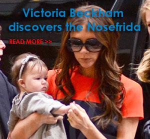 Victoria Beckham đã chọn NOSEFRIDA khi bé Harper bị cảm lạnh và sổ mũi lần đầu